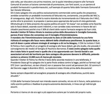 Farmacie Comunali: Peschiera Riparte contro Forza Italia