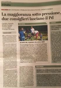 20150425 - Uscita da PD e creazione PR - Il Cittadino