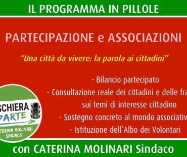 Il nostro programma in pillole: partecipazione e associazioni